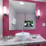 Loft Mirror with 15 inch TV by Electric Mirror