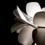 Infiore M-5807 Table Lamp - Shiny White / White