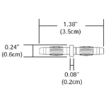 Monorail 2-Circuit Straight Conductive Connector  -  /