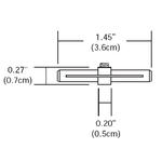 Monorail 2-Circuit Straight Isolating Connector -  /