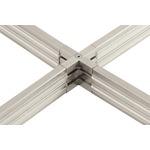 Monorail 2-Circuit X Conductive Connector - Satin Nickel /