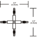 Monorail 2-Circuit X Conductive Connector -  /