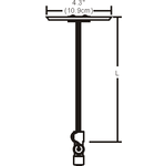 Monorail 2-Circuit Adjustable Single Center Feed Canopy -  /