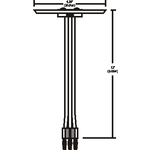 Monorail 2-Circuit Adjustable Male End Power Feed Canopy -  /