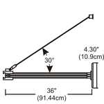 Monorail 2-Circuit Out-Rigger Power Feed -  /