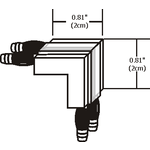Monorail L Conductive Connector -  /