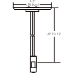 Monorail Adjustable Single Center Feed Canopy -  /