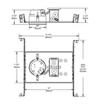NW2000CE 4 inch 42W ELV Non-IC Shallow New Construction  -  /