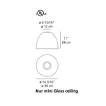 Nur Mini Gloss Ceiling Light -  /