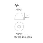 Nur Mini Gloss Ceiling Light -  /