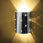 Bling Bling Wall Sconce - Chrome / Perforated Steel with Crystals