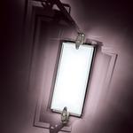 Cuff Link Bath Bar - Brushed Nickel / Clear / White