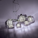 Jewel Box Chandelier - Chrome / Clear / Aluminum