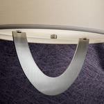 P902 Earring Pendant - Brushed Nickel / White Linen