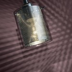 P960 Grid II Mini Pendant - Chrome / Clear/Chrome Mesh