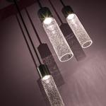 Light Rain Mini Pendant - Sable Bronze Patina / Clear Seeded