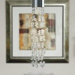 EZ Jack Rock Candy Pendant - Polished Nickel / Clear