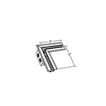TruLine 1.6A L-Shaped Power Channel Connector -  /