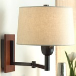 Wonton Reading Arm Wall Sconce by Robert Abbey