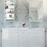 Simplicity Right Hinged Recessed Medicine Cabinet -  / Mirror