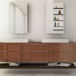 Simplicity Left Hinged Recessed Medicine Cabinet -  / Mirror