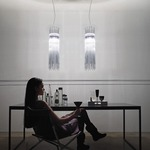 Diadema 31 Inch Multi Light Pendant by Vistosi