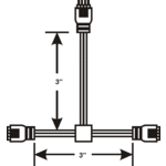 3 Inch Flexible T Connector -  /