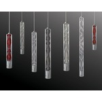 Settecento Pendant - Polished Chrome / Red