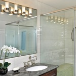 Silo Bathroom Vanity Light - Polished Chrome / Clear / Frosted