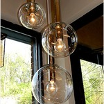Bubbles Multi Light Pendant - Polished Nickel / Clear