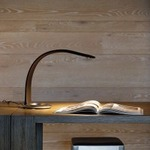 Hatha Desk Lamp by Square Walnut
