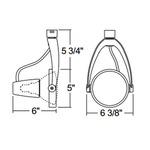 T487 PAR38 Wishbone Track Fixture 120V -  /