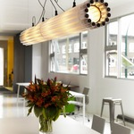 Recycled Tube TL8 Light Pendant - White /
