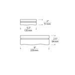 Fluid Square Halogen Wall/Ceiling Mount -  /