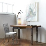 Recycled Tube Light Table Lamp - White /