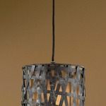 Alita Mini Pendant - Rust / Aged Black
