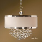 Fascination 3 Light Hanging Shade - Silver / Crystal