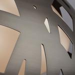 Ventana Grande Pendant - Satin Nickel / White Glass