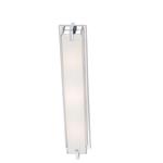 Cubism Linear Bathroom Vanity Light - Chrome / White