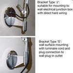 Tolomeo Micro Wall Light with J Bracket - Aluminum /