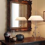 Ashanghai Table Lamp - Chrome / White