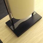 Athena Table Lamp - Black Nickel / Cream Trevira