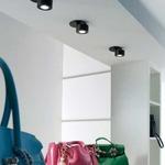Favilla Flush LED Ceiling or Wall Spot 50 Degree - Black /