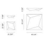 Ukiyo Square Wall or Ceiling Mount -  /