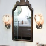Barnacle Wall Light with Round Canopy - Dark Bronze / Clear