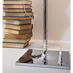 Bibliotheque Floor Lamp - Chrome / Transparent