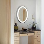 Tigris Oval Surface Mirror by Tech Lighting