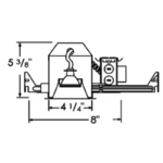 R4-499AT 4 IN GU5.3 MR16 Non-IC New Construction Housing -  /