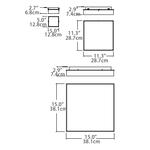 Cube Wall/Ceiling Light Chrome -  /