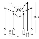 Bottles 6-light Suspension -  /